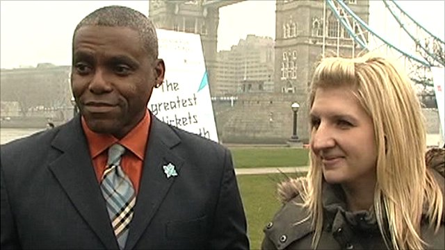 Carl Lewis and Rebecca Adlington