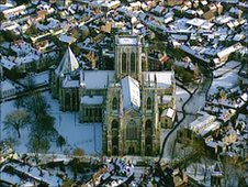 York from the air during heavy snow in 2010