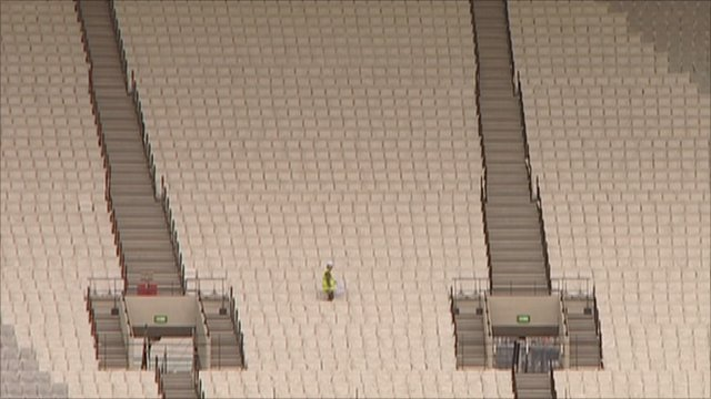 Seats in the Olympic stadium