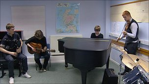 Music centre students