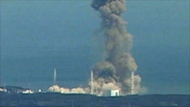 Reactor 3 exploding at the Fukushima nuclear power plant