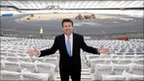 Lord Coe at the Olympic stadium
