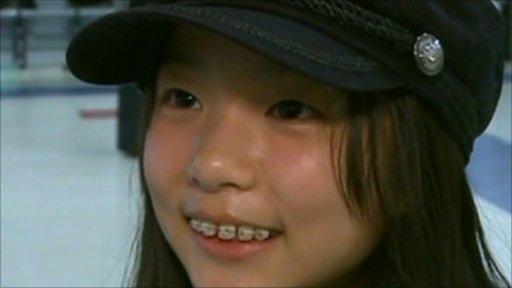Japanese girl at airport