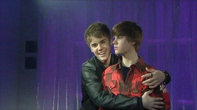 justin bieber waxwork. Justin Bieber waxworks