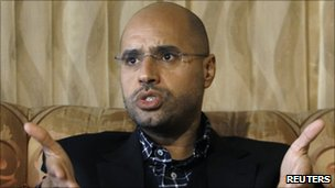 Col Gaddafi's most prominent son, Saif al-Islam (10 March 2011)