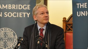 Julian Assange (Image: Cambridge Union Society)