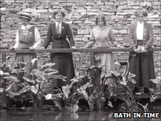 Laura Ainsworth and suffragettes in Bath
