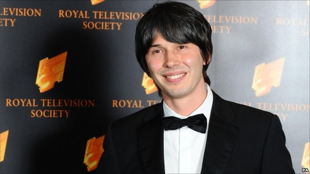 Prof Brian Cox at the Royal Television Society awards