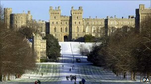 Windsor Castle in the Royal Borough of Windsor and Maidenhead