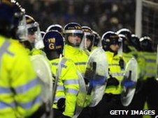 Police were called upon as fans invaded St Andrew's