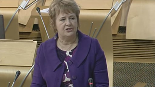 Environment Minister Roseanna Cunningham gives a statement to MSPs on the Scottish Government's climate change targets report.