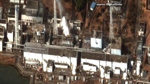 Damaged reactors at Fukushima