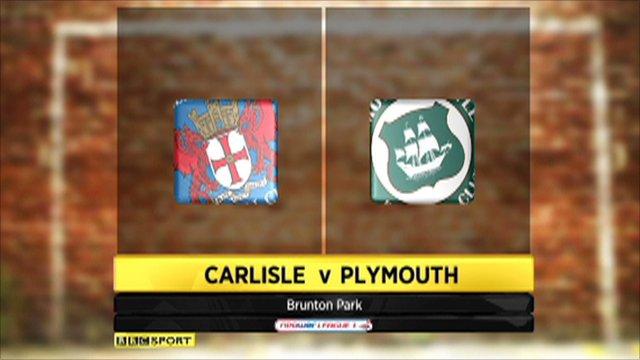 Carlisle 1-1 Plymouth