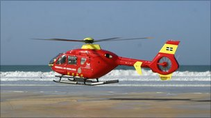 Cornwall's air ambulance: Pic: CAAT