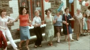 Street party celebrations in 1981