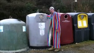Actor Edward Rowe in his spoof video