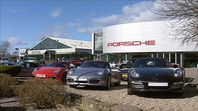 Porsche garage