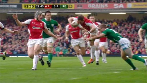 The moment Shane Williams suffered a knee injury that ended his Six Nations campaign, one match before his scheduled farewell.