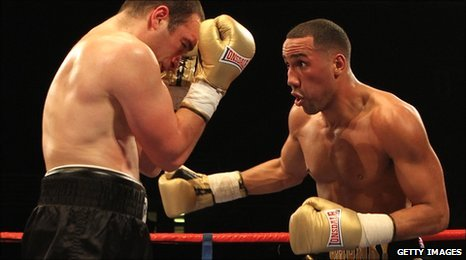 James DeGale (right) defeated France's Alpay Kobal in March