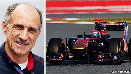 Franz Tost and the Toro Rosso car