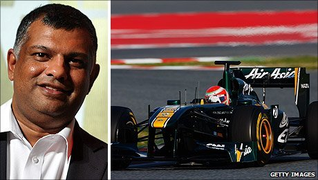 Tony Fernandes and the 2011 Lotus