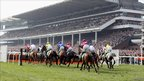 Action at Cheltenham Racecourse on Centenary Day (Photo by Scott Heavey/Getty Images)