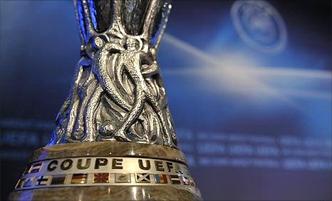 The Europa League trophy