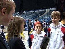 The School Reporters interview two young British skaters