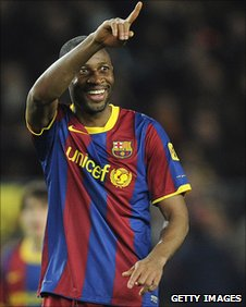 Seydou Keita of Barcelona and Mali