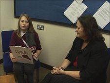 School Reporter Breanne and Cllr Coombs