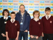 The School Reporters with MOTD Kickabout's Sam
