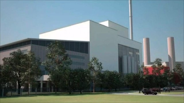 Artist's impression of the new incinerator