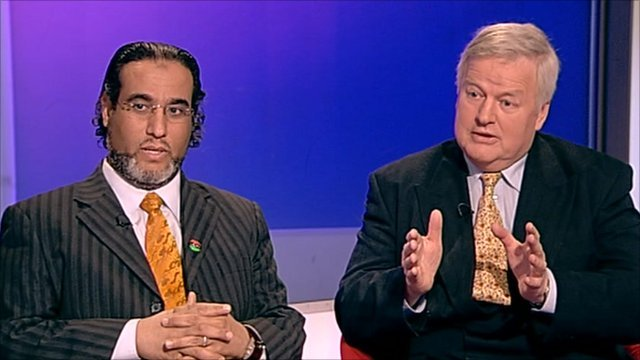 Dr Faraj Najem and Colonel Bob Stewart