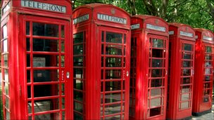 Red phone kiosks