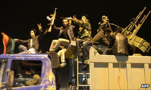 Libyan rebels demonstrate in Benghazi