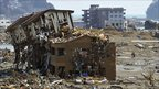 Buildings destroyed by a tsunami are pictured in Minamisanriku, Miyagi Prefecture, in northern Japan