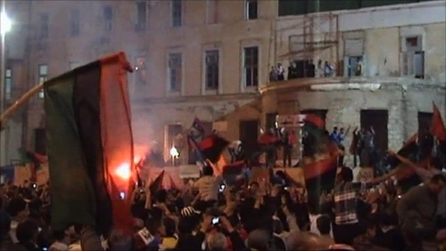 Celebrations in Benghazi as UN resolution announced
