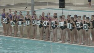 Swimmers at Saltdean Lido
