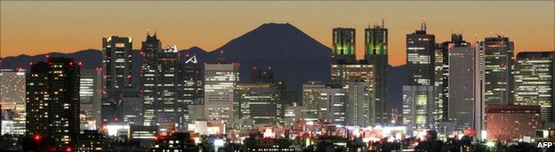 Tokyo skyline (Mount Fuji)