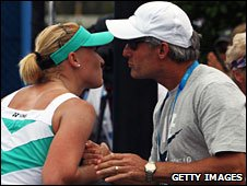 Elena Baltacha and her father Sergei