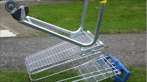 Dumped shopping trolley