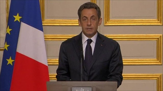 French President Nicolas Sarkozy