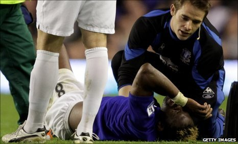 Everton striker Louis Saha