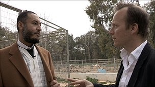 Saadi Gaddafi with Panorama's Paul Kenyon