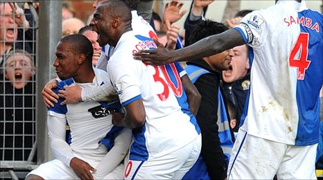 Blackburn celebrate