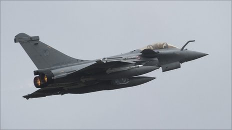 French Rafale jet takes off from St-Dizier to fly mission over Libya (19 March 2011)