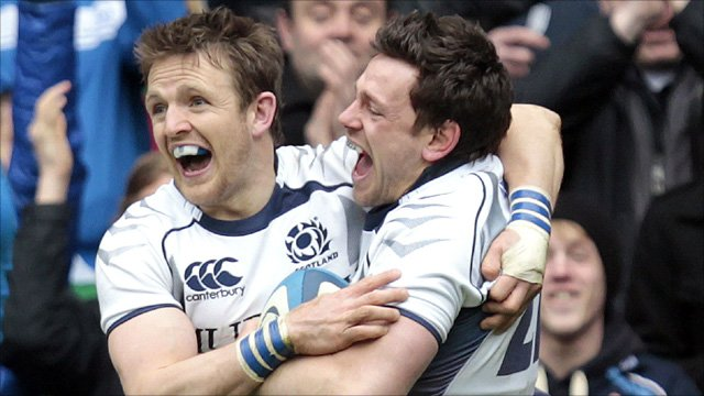 Scotland celebrate at Murrayfield