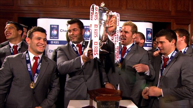 England accept the 2011 Six Nations trophy