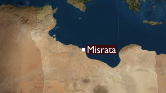 Misrata marked on map