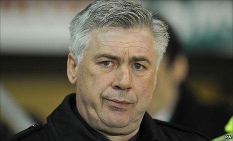 Chelsea coach Carlo Ancelotti